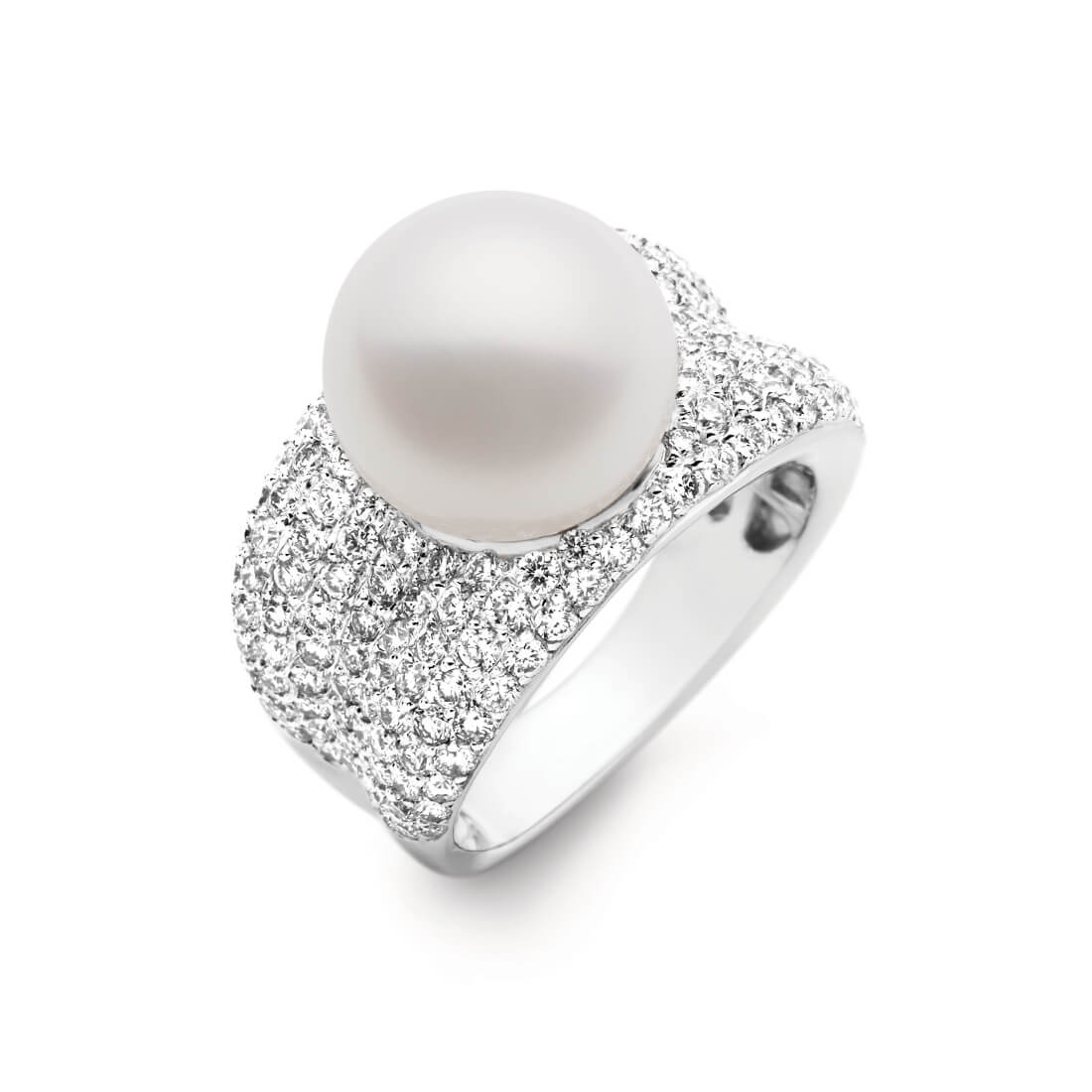 Adored Ring White Diamonds, White Gold