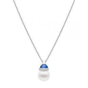 Lucernae Pendant Small Mediterrean Blue, White Gold