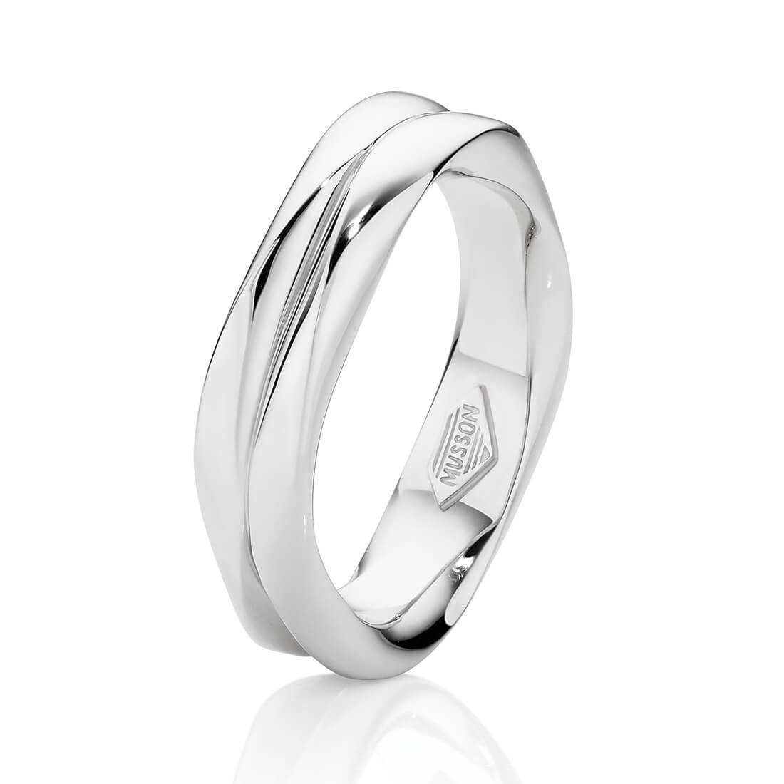 Ring With Ms Entwined