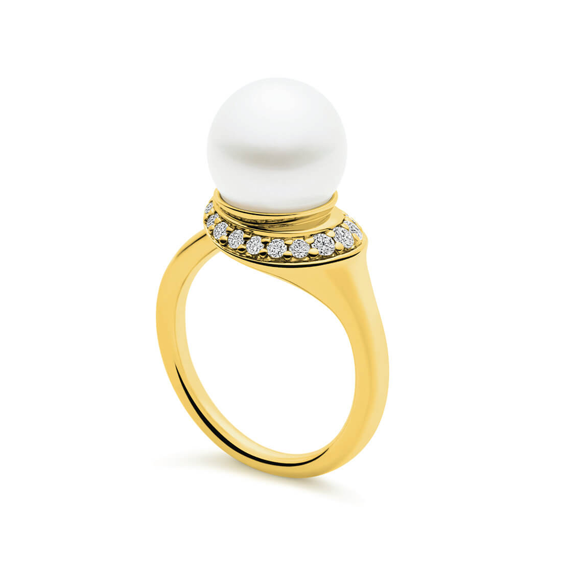 Swan Ring, Yellow Gold