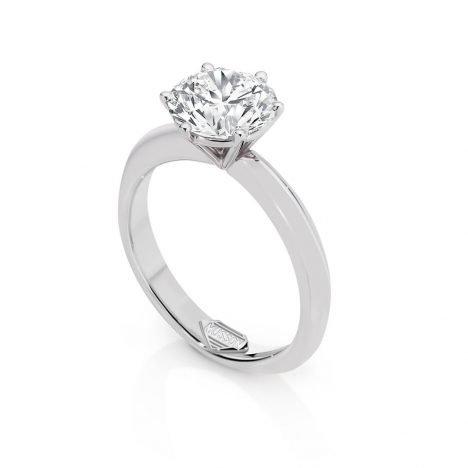 Classique Solitaire Diamond Ring