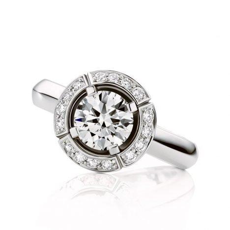 Sun Struck Diamond Ring