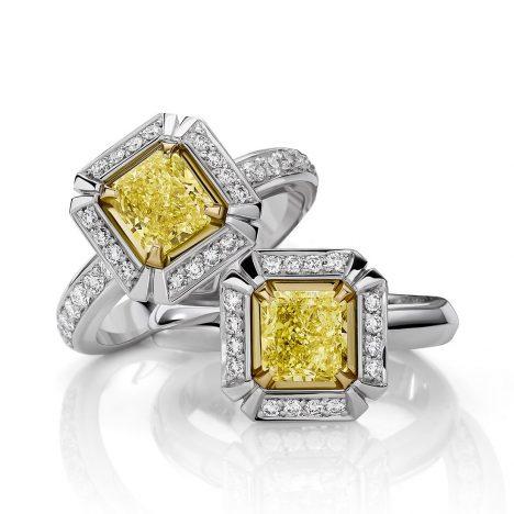 Sun Struck Yellow Diamond Rings