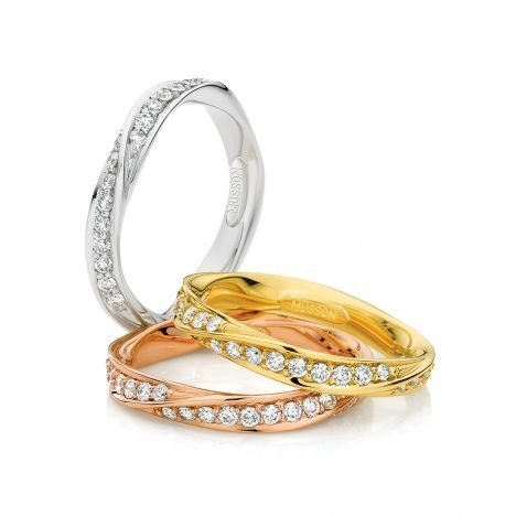 Entwined diamond rings