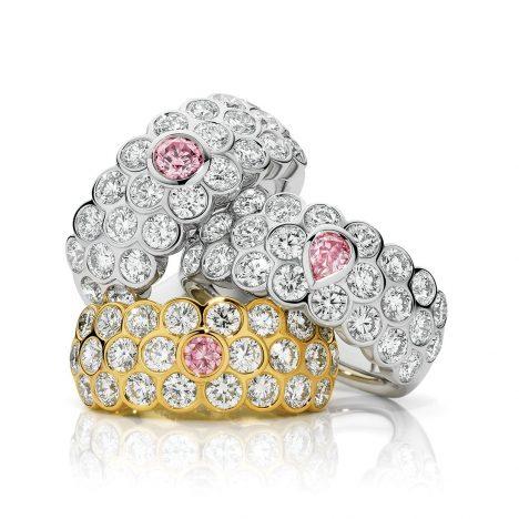 Honeycomb Pink Diamond Ring