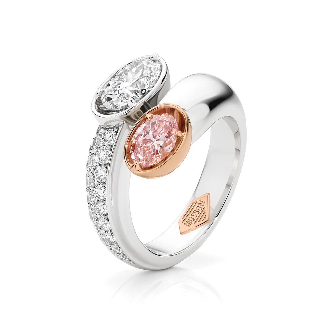 Paradise Oval Argyle Pink Diamond Ring