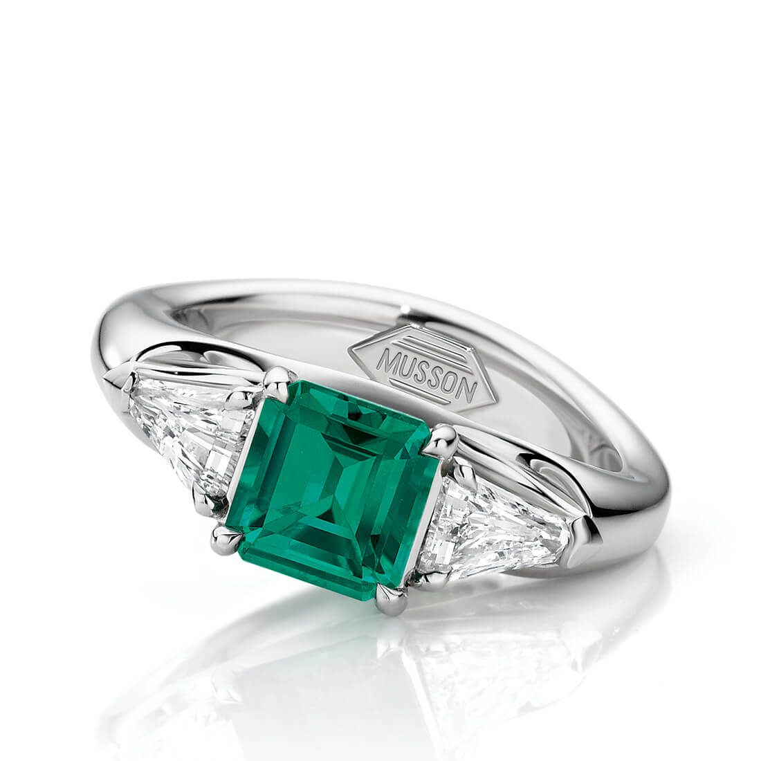 Envy Emerald and Diamond Ring