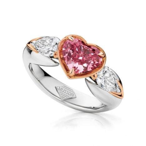 Mon Coeur Argyle Pink Diamond Ring