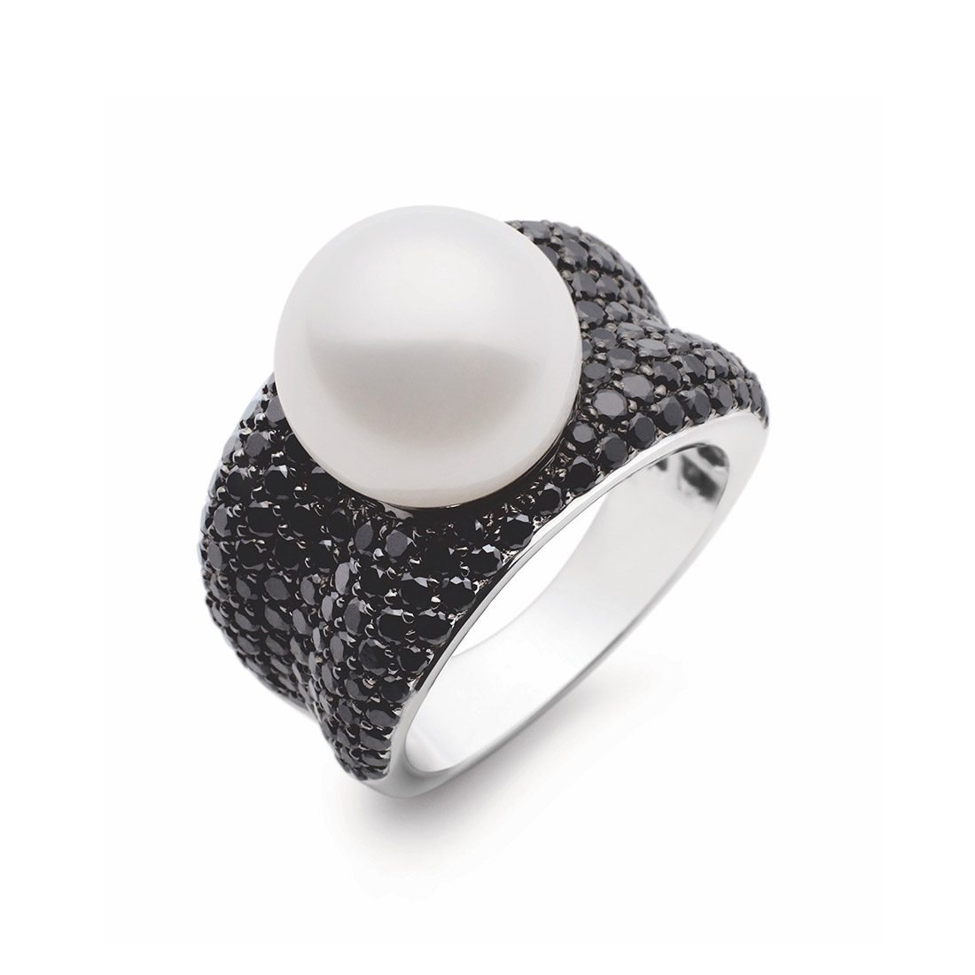 Kailis - Adored Pearl Black Diamond Ring