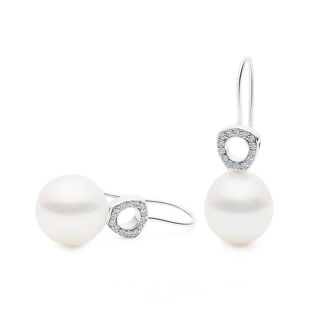 Kailis - Hope Diamond Pearl Earrings, White Gold