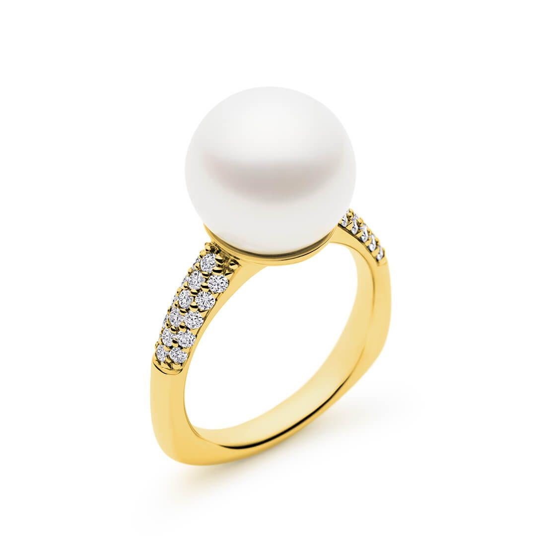 Kailis - Hope Diamond Pearl Ring, Yellow Gold