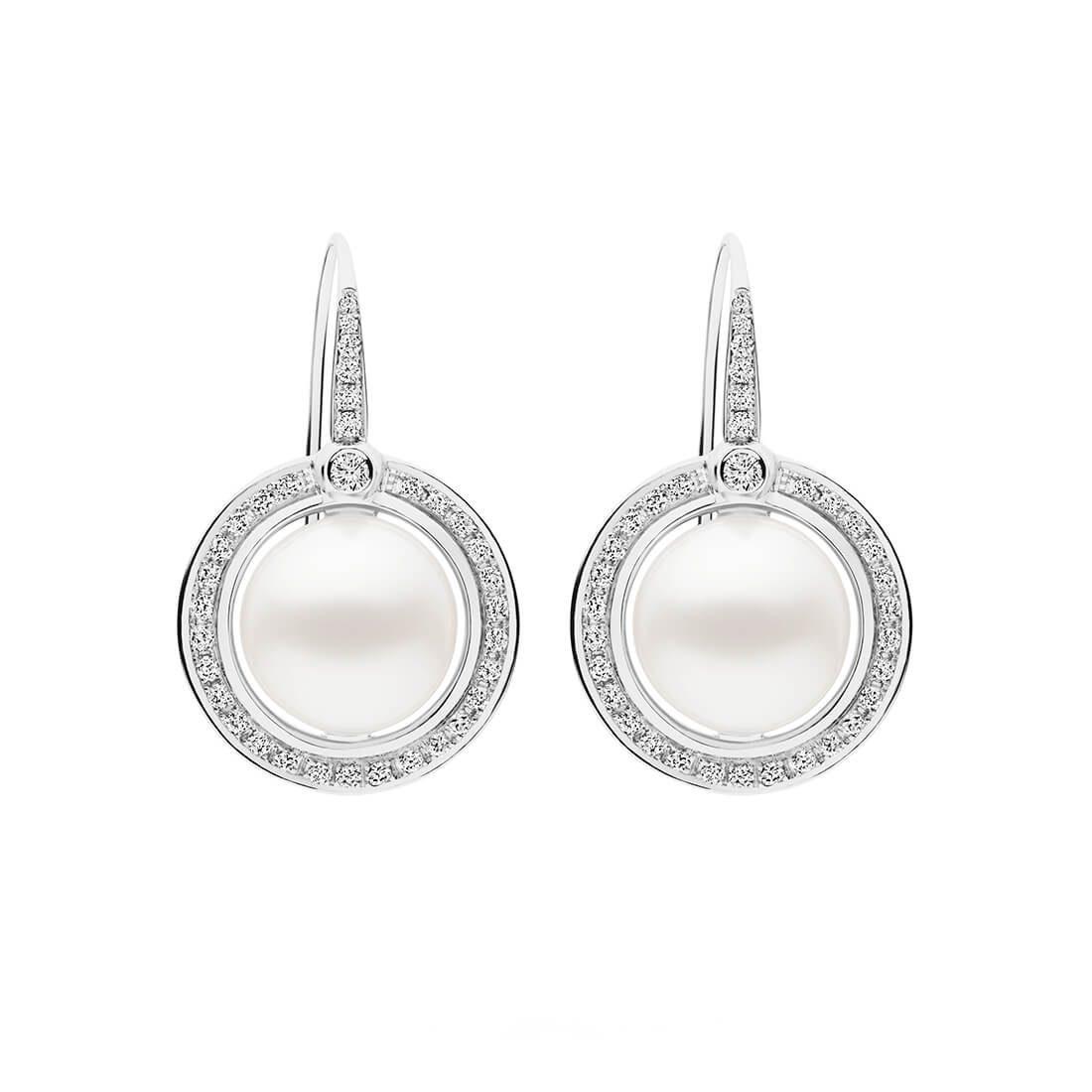 Divine Earrings, White Gold