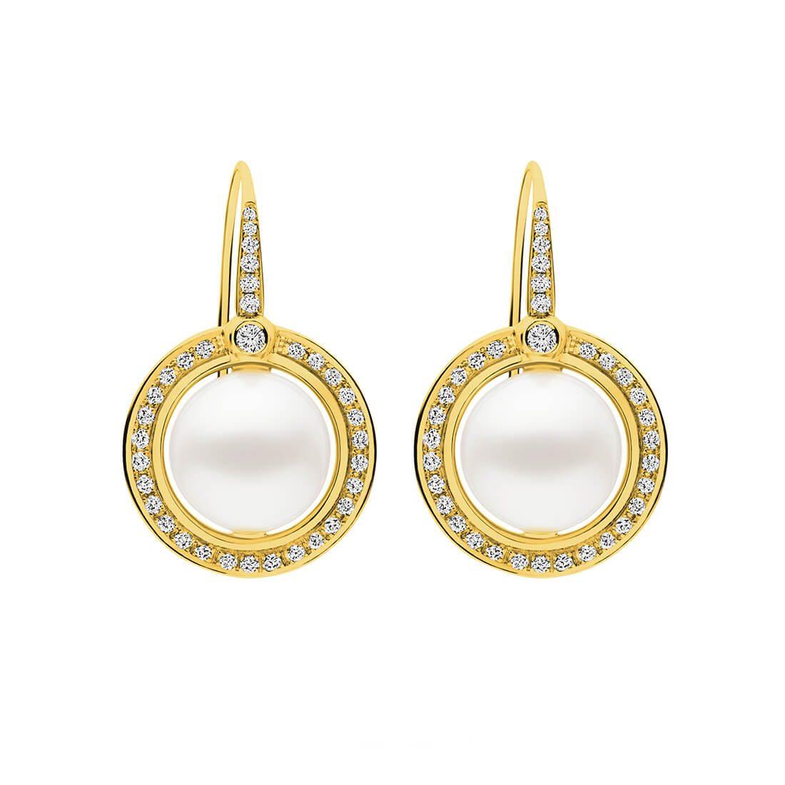 Divine Earrings, Yellow Gold