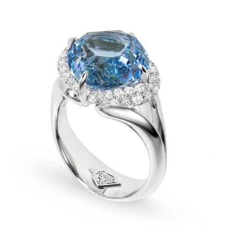 Chloe Blue Topaz Ring