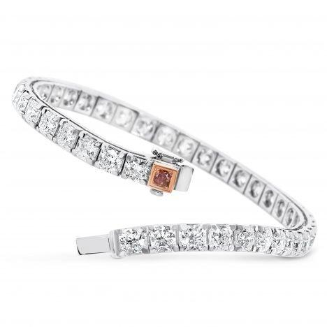 Diamond Tennis Bracelet, Argyle and DeBeers Forevermark