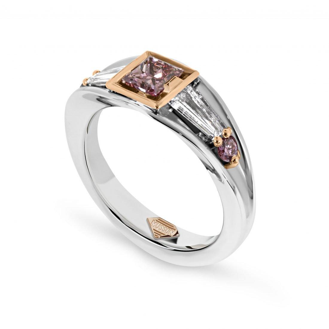 Vivid Bridge Argyle Pink Diamond Ring