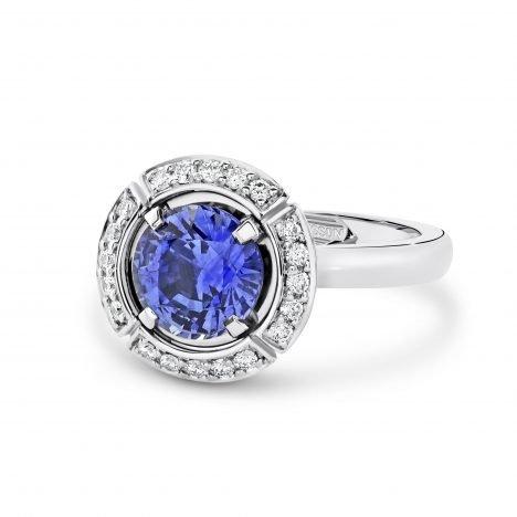 Sun Struck Sapphire Ring