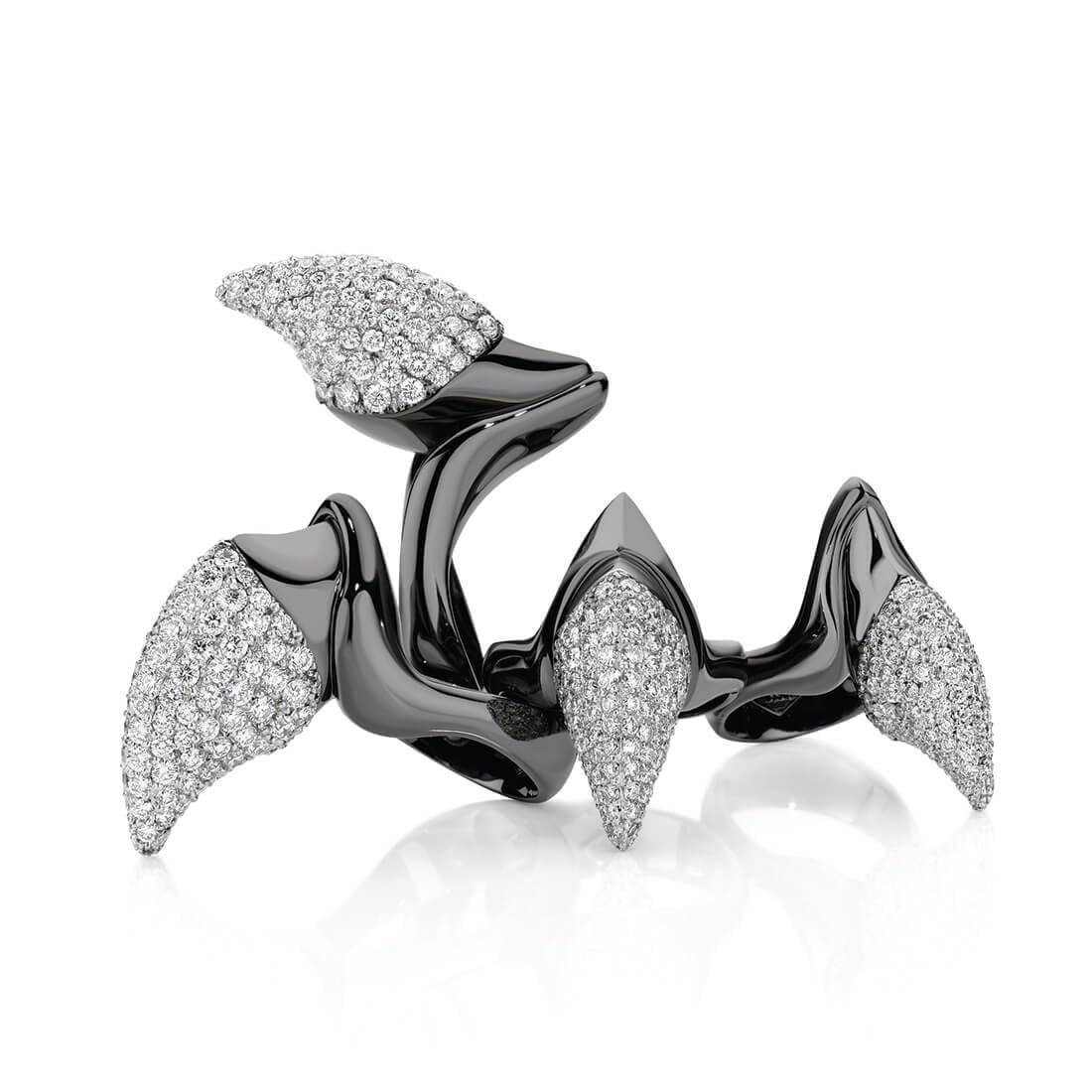 Huntress Diamond Talon Rings