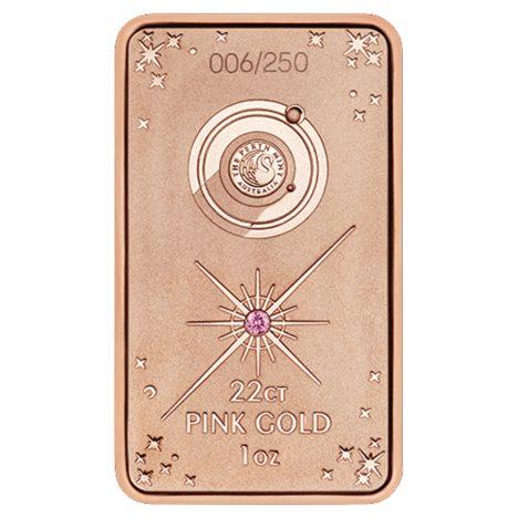 The Limited Edition 2018 'Lake Argyle' One oz 22 carat Pink Gold Ingot