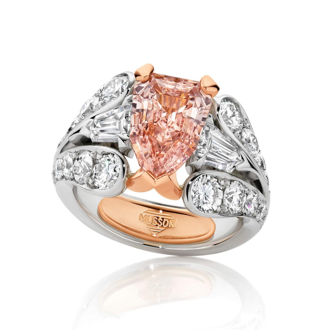 Pastel Rose Couture Pink Diamond Ring