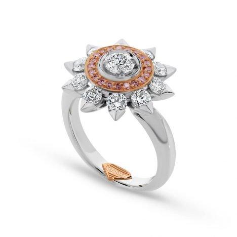 Soleil Grande Argyle Pink Diamond Pendant
