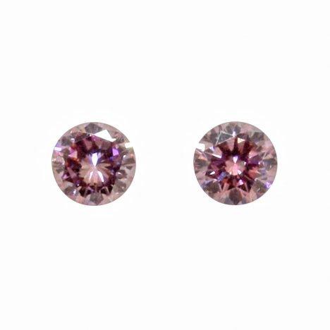 2=0.25ct Natural Fancy Intense Purplish Pink, 5PP Argyle Diamonds