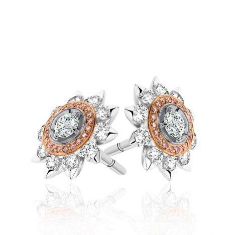 Soleil Argyle Pink Diamonds Earrings