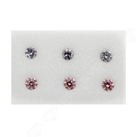 6=0.26ct Natural Fancy Purplish Pink/Greyish Blue, 6P/BL2, I1, Argyle Pink Diamond
