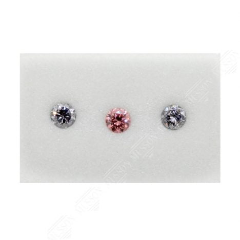 3=0.24ct Natural Fancy Intense Purplish Pink / Greyish Blue, 4PP/BL2, I1, Argyle Pink Diamond