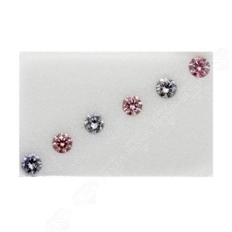6=0.29ct Natural Fancy Purplish Pink/Greyish Blue, 5P/BL2 Argyle Diamond