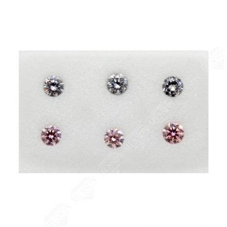 6=0.28ct Natural Fancy Purplish Pink/Greyish Blue, 6P/BL2 Argyle Diamonds