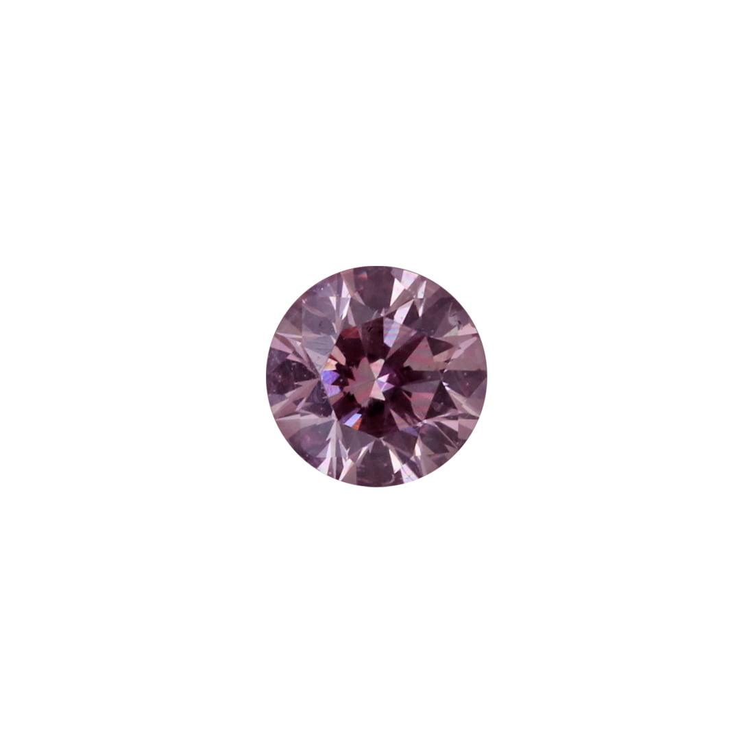 0.18ct Natural Fancy Purplish Pink, 7PP Argyle Diamond