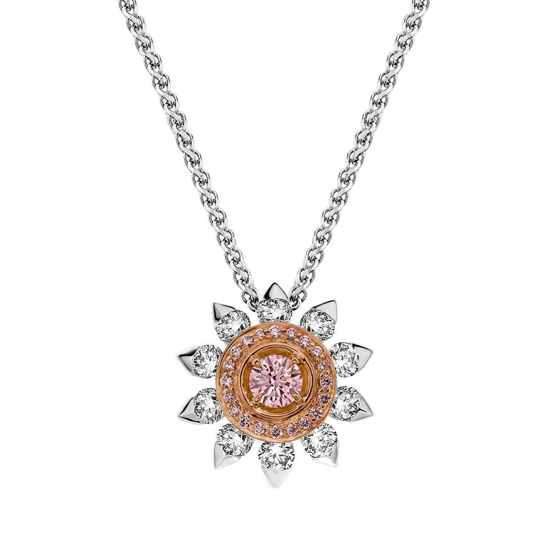 Soleil Argyle Pink Diamond Pendant