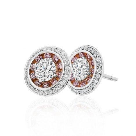 Lucerna Argyle Pink Halo Diamond Ring
