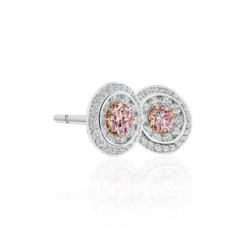 Lucerna Argyle Pink Diamond Earrings