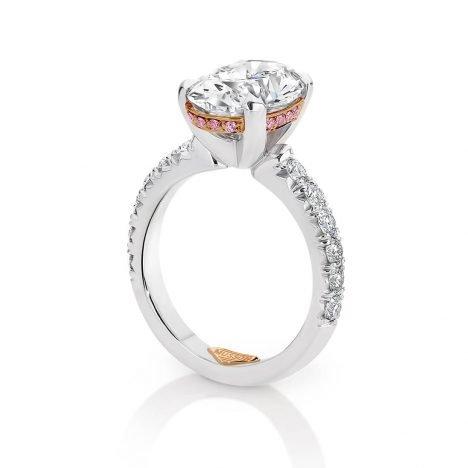 Teiza Couture Oval Diamond Ring