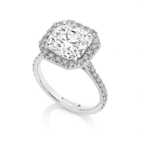Centre of my Universe DeBeers Forevermark Black Label Square Diamond Ring