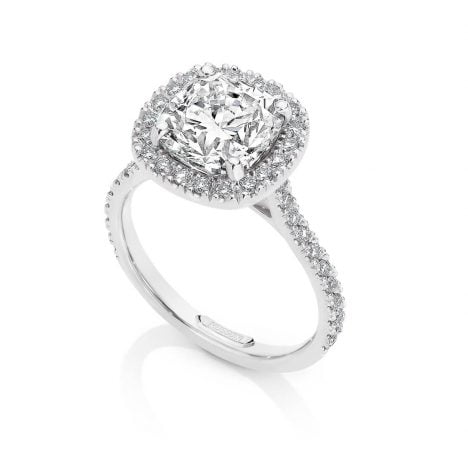 Centre of my Universe DeBeers Forevermark Cushion cut Diamond Ring