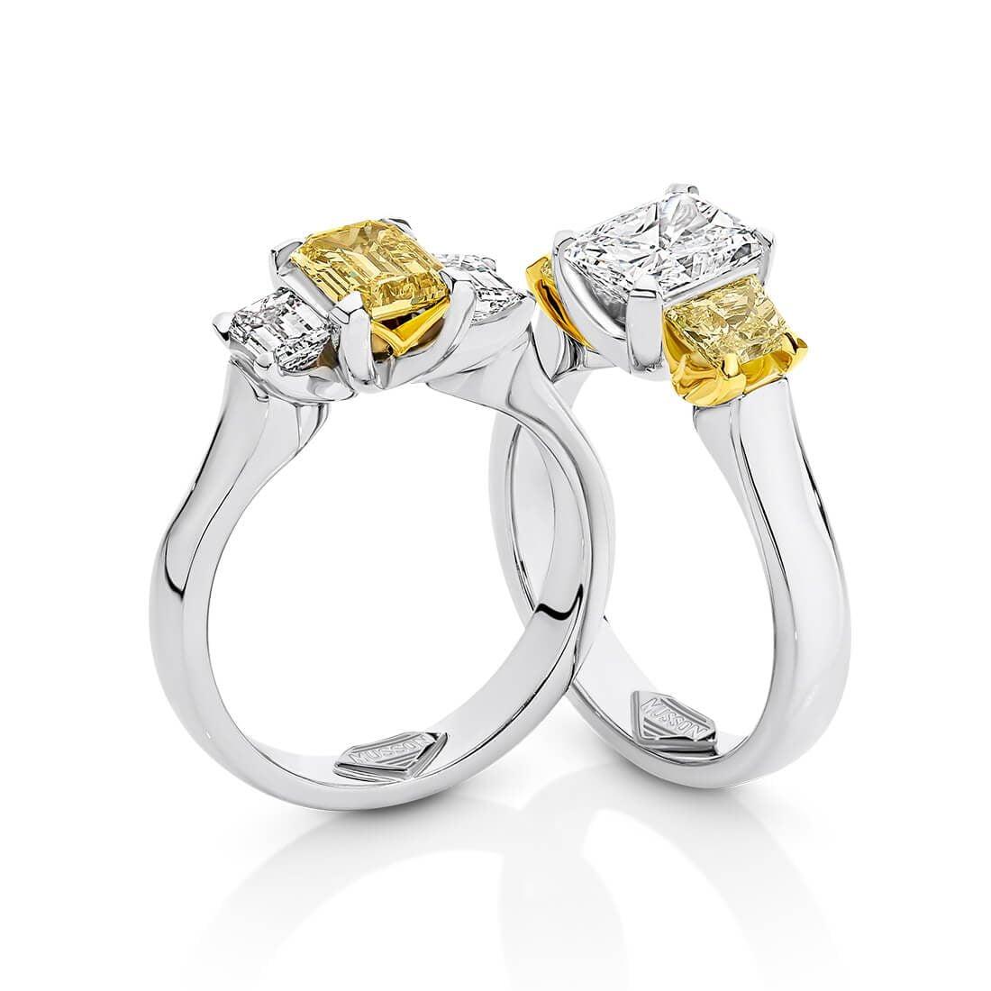 Teiza Trilogy, Yellow and White Diamond