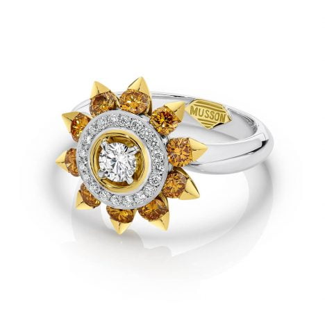 Soleil Ring, Orange Diamond