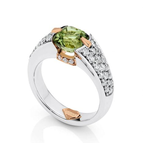 Viva Ring, Green Tourmaline