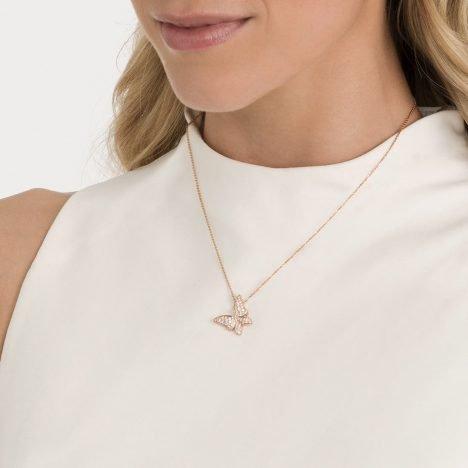 White Butterfly Diamond Pendant