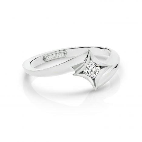 White Gold Nova Ring