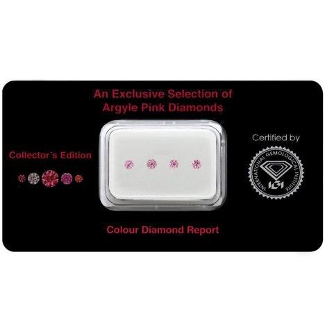 4=0.16ct Natural Fancy Intense Purplish Pink, 4PP Argyle Diamond