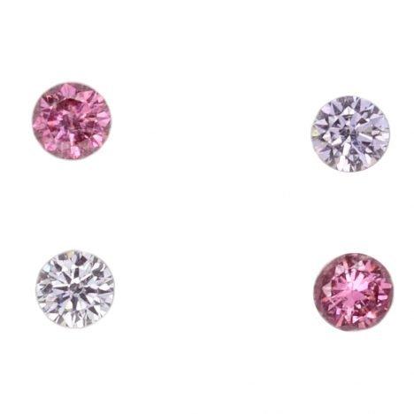 4=0.19ct Natural Fancy Vivid Purplish Pink/Grey Blue, 2PP/BL2, I1, Argyle Pink Diamond