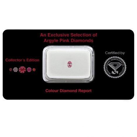 0.12ct Natural Fancy Intense Purplish Pink, 5PP Argyle Diamond