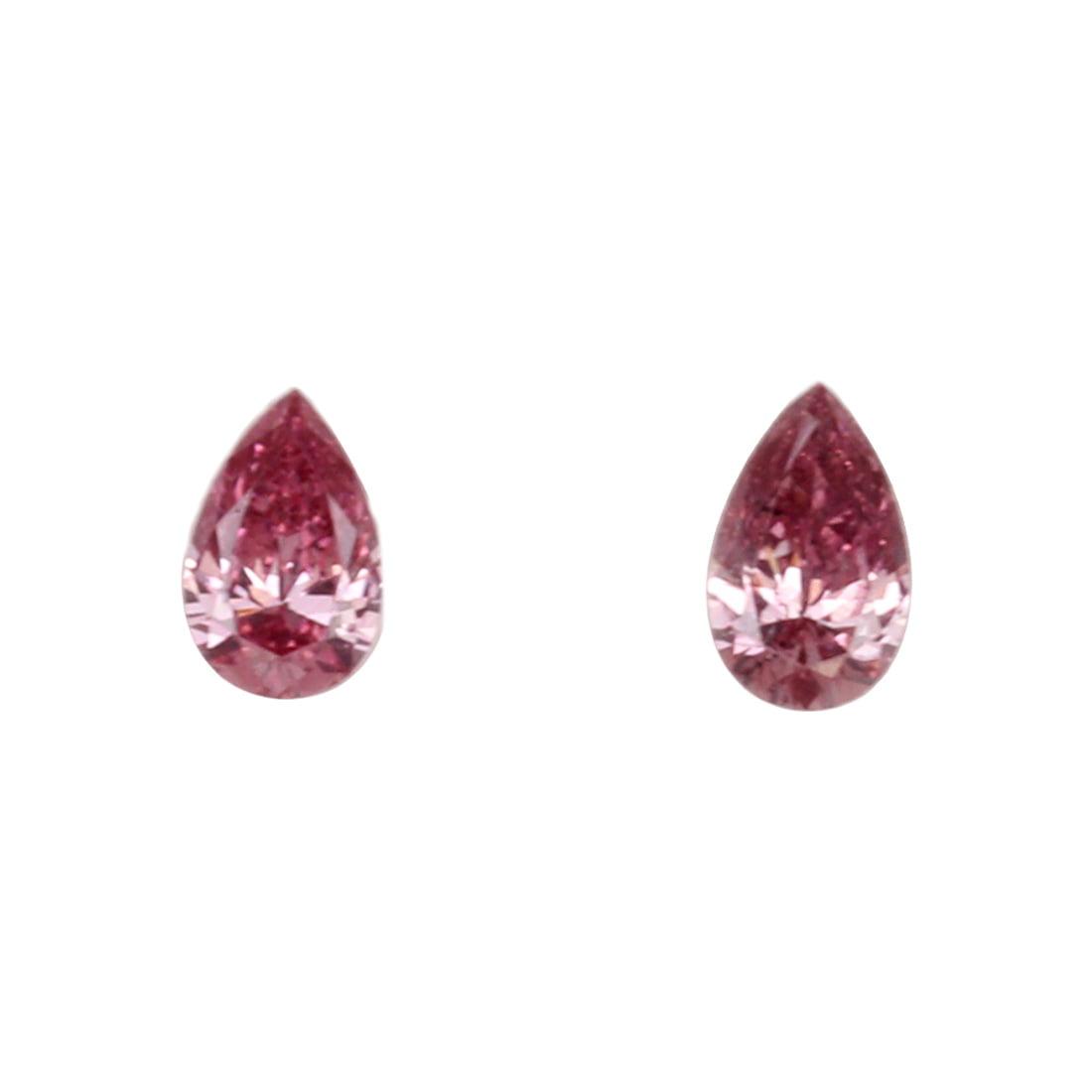 2=0.14ct Natural Fancy Intense Pink, 3P, SI2, Argyle Pink Diamond