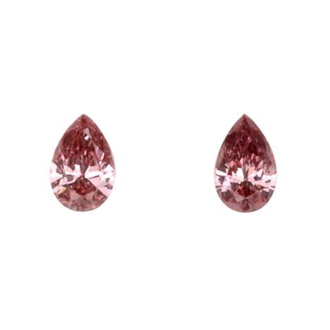 2=0.15ct Natural Fancy Deep Pink, 3PR Argyle Diamond
