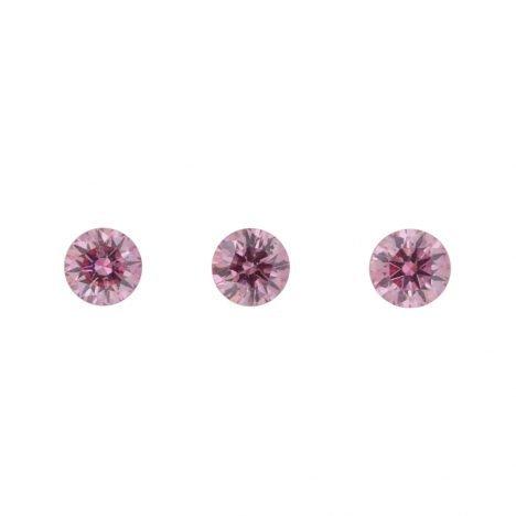 3=0.25ct Natural Fancy Intense Purplish Pink, 5PP Argyle Diamond