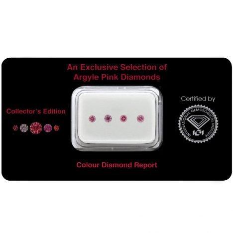 4=0.20ct Natural Fancy Intense Purplish Pink, 4PP, SI2, Argyle Pink Diamond